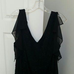Beaded Plus Petite Cocktail Dress